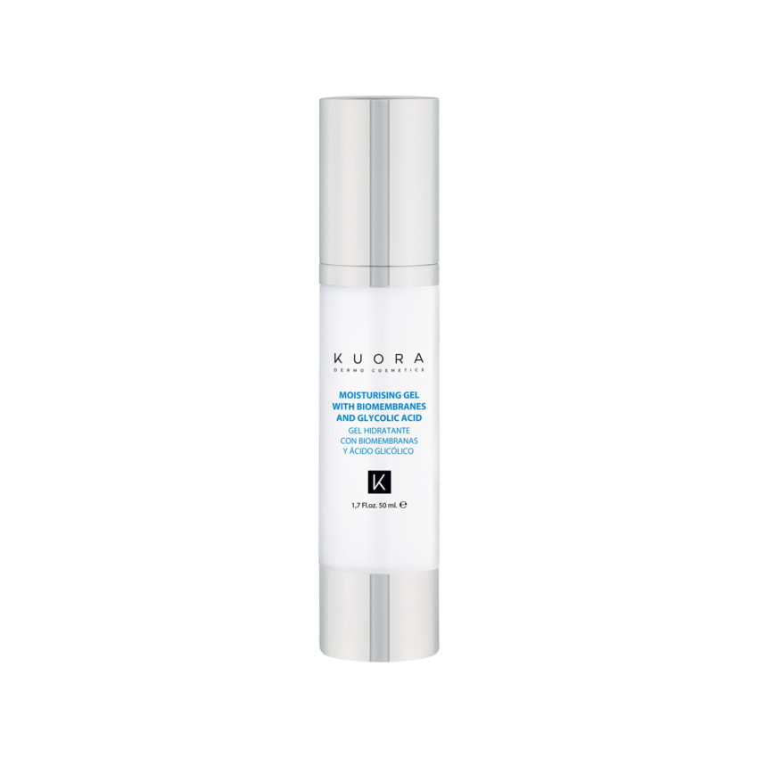 MOISTURISING GEL WITH BIOMEMBRANES AND GLYCOLIC ACID